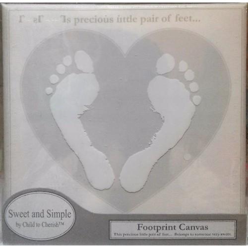 Cuadro de huellas para los piesitos del bebé - Gris disponible en: www.happyeureka.com