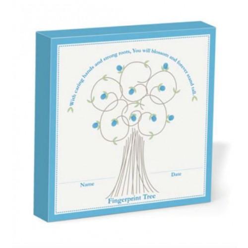 Cuadro de huellas para los deditos del bebé - Azul disponible en: www.happyeureka.com