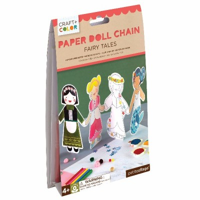 Fairy tales paper doll chain craft y col