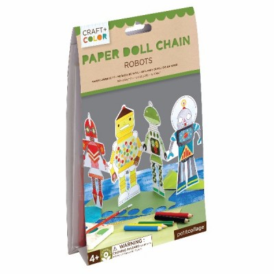 Robots paper doll chain craft y color