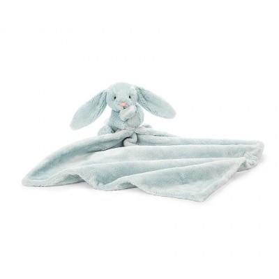 Cobija pequeña de conejito color azul
