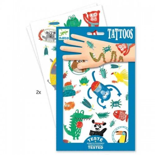 Tatuaje de hocicos de animales