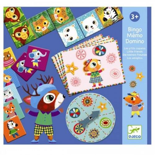 Bingo memo domino - Pequeños amigos disponible en: www.happyeureka.com
