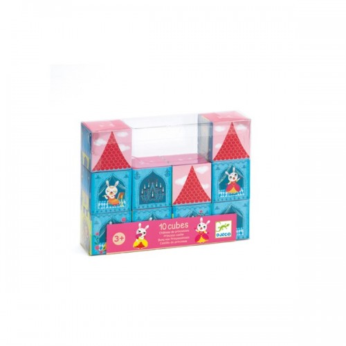 Blocks 10 princess catles cubes disponible en: www.happyeureka.com