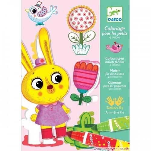Colouring for toddler 4 seasons disponible en: www.happyeureka.com