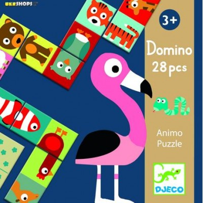 Educational game domino animo puzzle