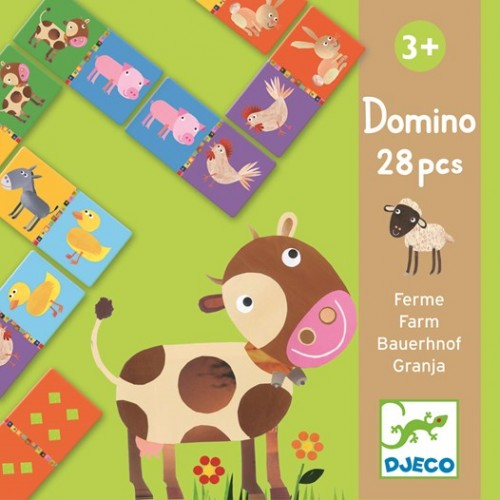 Juego educativo - Domino animales de la granja disponible en: www.happyeureka.com