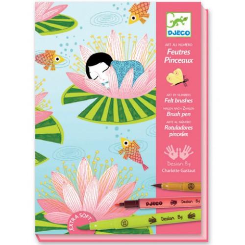 Juego para colorear - Flor de loto disponible en: www.happyeureka.com