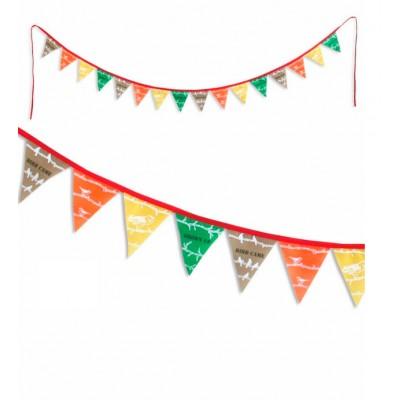 Guirnalda de banderas - El jardín