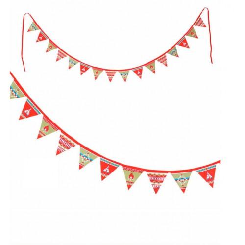 Guirnalda de banderas - Los indígenas disponible en: www.happyeureka.com