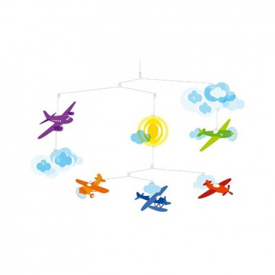 Móvil - Aviones de colores