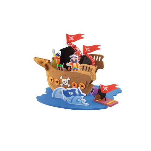 Barco pirata para armar disponible en: www.happyeureka.com