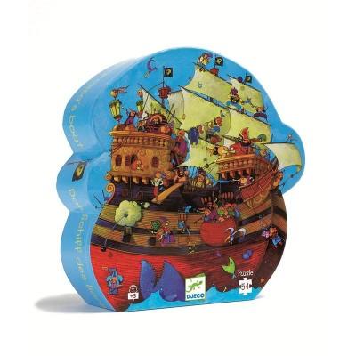 Rompecabezas de silueta - Barco del pirata Barbosa