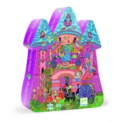 Silhouette puzzle the fairy castle