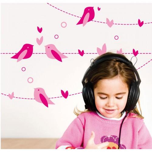 Vinilo decorativo - Los pájaros cantando disponible en: www.happyeureka.com