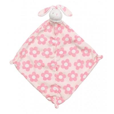 Cobija de apego para bebé - Conejo rosado con flores