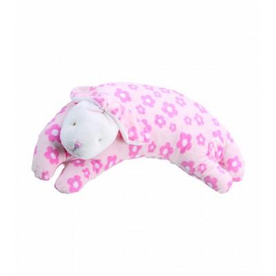 Almohada para bebé - Conejo rosado de flores