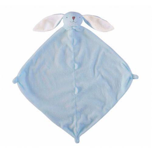 Cobija de apego para bebé - Conejo azul disponible en: www.happyeureka.com