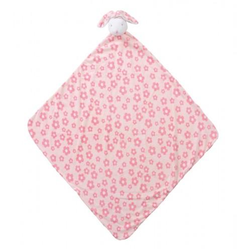 Cobija para bebé - Conejo rosado con flores disponible en: www.happyeureka.com