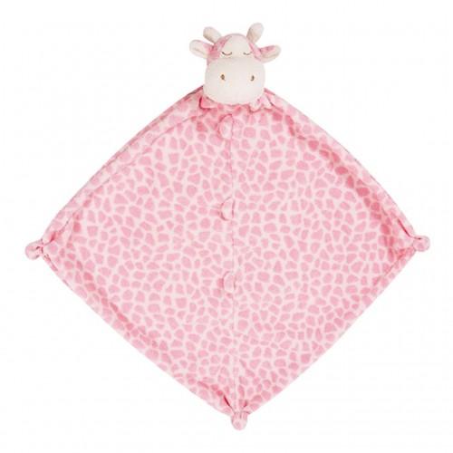 Pink giraffe blankie disponible en: www.happyeureka.com