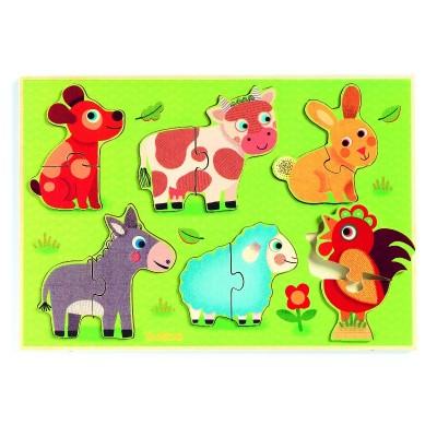 Rompecabezas - Los animales de la pradera