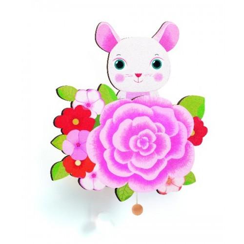 Caja musical de pared - Rosita la ratona disponible en: www.happyeureka.com