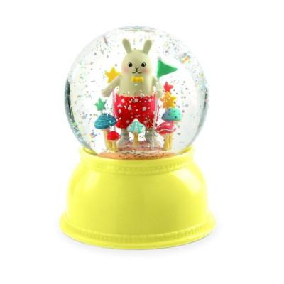 Lámpara en globo de nieve - Conejo
