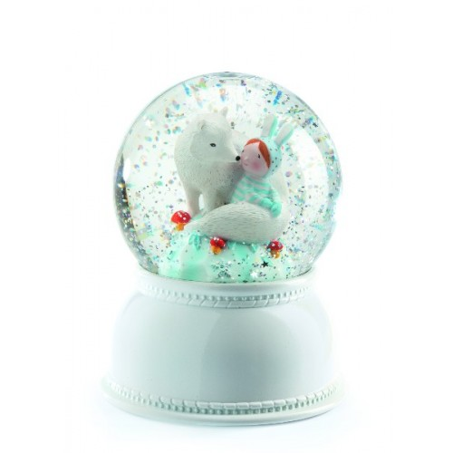 Lámpara en globo de nieve - Lila y su cachorro disponible en: www.happyeureka.com