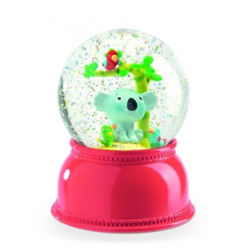 Lámpara en globo de nieve - Kali en Koala disponible en: www.happyeureka.com