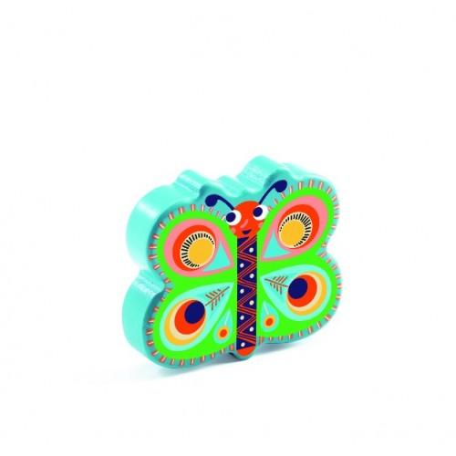 Maraca de madera - Mariposa Animambo disponible en: www.happyeureka.com