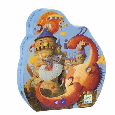 Rompecabezas de silueta - El castillo del dragón