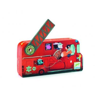 Rompecabezas de silueta - Camión de bomberos