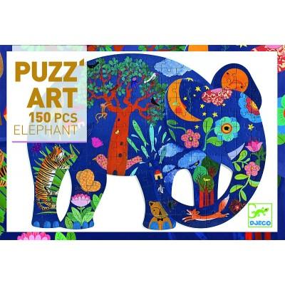 Rompecabezas artístico - El elefante