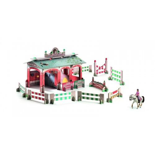 Establo de caballos 3D para armar disponible en: www.happyeureka.com