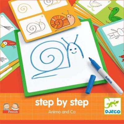 Tablero para aprender a dibujar - Los animales