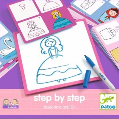 Tablero para aprender a dibujar - Josephine y sus amigas