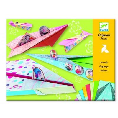 Juego de origami - Aviones de niñas