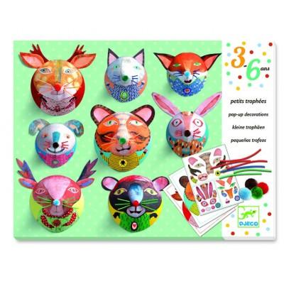 Juego para decorar - Pequeños trofeos de animales