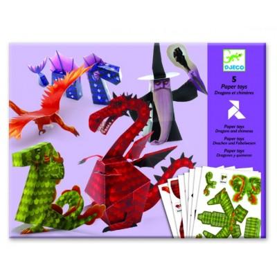 Juego de origami - Dragones y magos