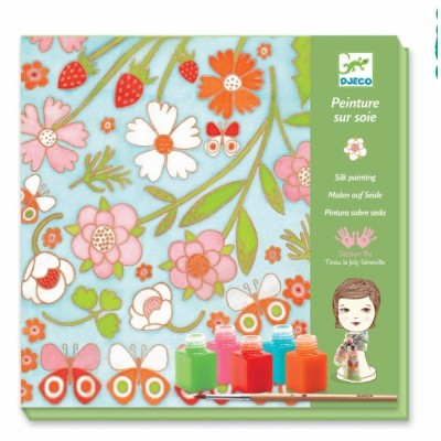 Juego para decorar - Bufanda de mariposas