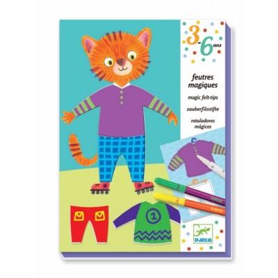 Juego para colorear - El gato y la ratona