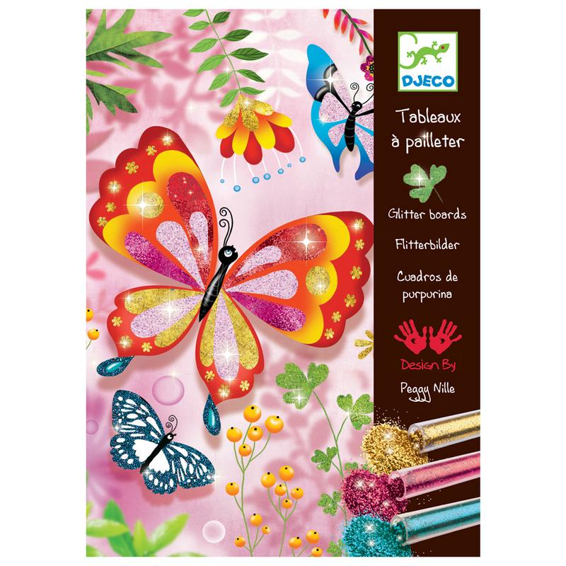 Juego para decorar mariposas brillantes for Mariposas de decoracion para pared