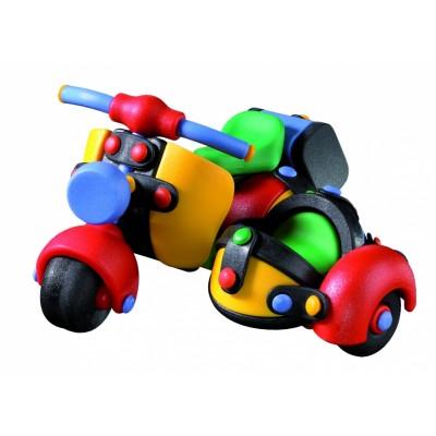 Moto con vehículo lateral
