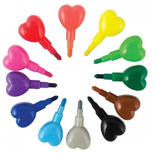 Crayolas de corazones disponible en: www.happyeureka.com