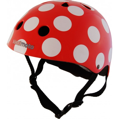 Casco - Rojo puntos blancos disponible en: www.happyeureka.com