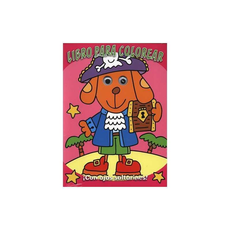 Libro para colorear perro con ojos saltones