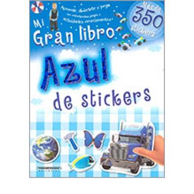 Mi gran libro azul  de stickers