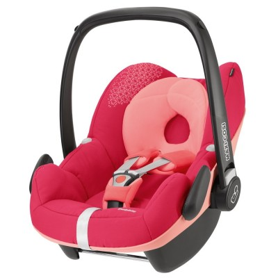 Silla de carro para bebé - Pebble rosa origami