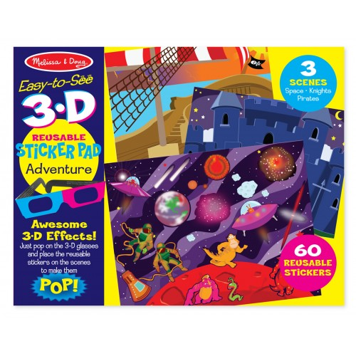 Easy to see 3d sticker pad adventure disponible en: www.happyeureka.com