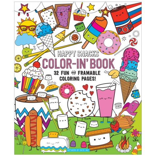 Color-in book happy snacks - libro para colorear disponible en: www.happyeureka.com